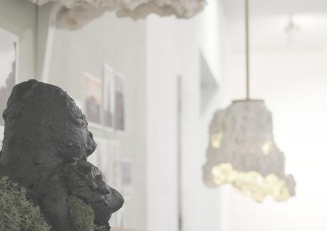 Troll figure on display at Bath Spa University Degree Show.