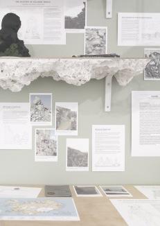 Cryptogeology study space exhibition at Bath Spa University Degree Show.